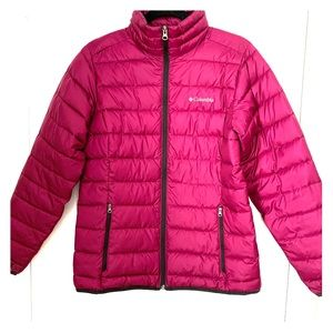 Columbia soft shell down filled puffer jacket